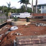 House under construction with our 20,000 litre Tank in the front yard