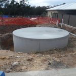 South Solitary Display Home under construction, With our 20,000 litre Tank underneath the garage floor