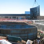 A 90,000 litre W8 Tank under construction at the Moree Swimming Pool:
