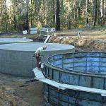Multiple 90,000 litre Tanks under construction